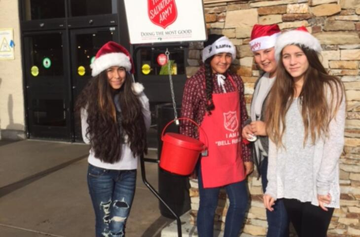 8th Grade Interns with the Salvation Army